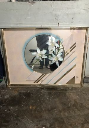 Beautiful picture with the mirror inside the box for Sale in Chicago, IL