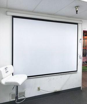 """(NEW) $55 Electric 100"""" 4:3 Projector Screen Auto w/ Remote Control 80""""x60"""" for Sale in Pico Rivera, CA"""