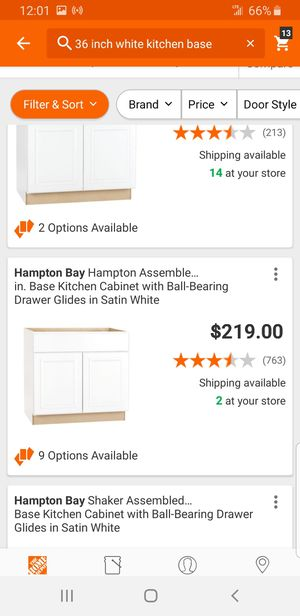 Brand new white kitchen cabinets 36 drawer base and 30 in wall for Sale in Norfolk, VA