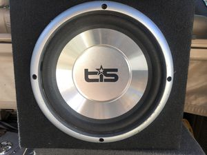 10 inch subwoofer in sealed box $30 works good for Sale in Merced, CA