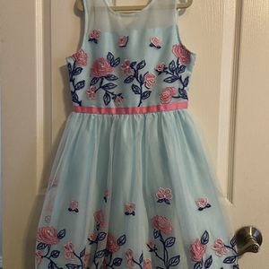 Pretty Party Dress - Blue With Pink Flowers for Sale in Gilbert, AZ
