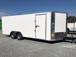 New 2021 White 8.5x20 Enclosed Cargo Trailer for Sale in Benson, NC