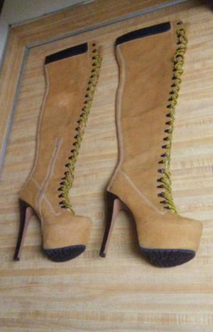 Size 9, Thigh high platform heeled boots, $35 for Sale in Columbus, OH
