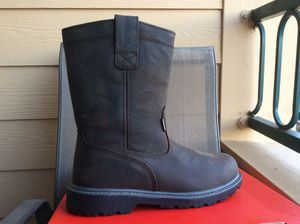 NEW MEN'S WOLVERINE WELLINGTON FLOORHAND WELL 10inch WATERPROOF SOFT TOE LEATHER WORK BOOTS Sz 11.5 for Sale in Lewisville, TX