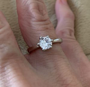 New CZ 1.75 kt sterling wedding ring size 6 for Sale in Palatine, IL