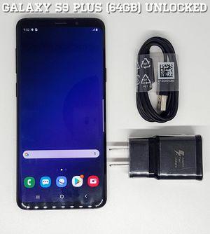 Galaxy S9 Plus (64GB) Factory-UNLOCKED + Accessories for Sale in Arlington, VA
