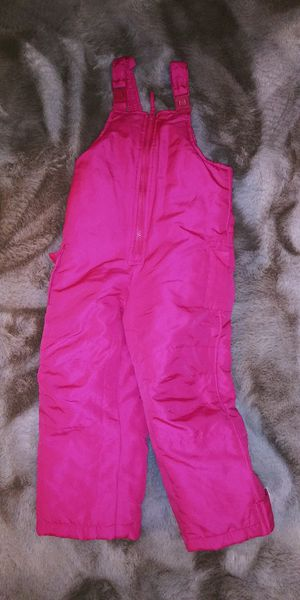 Girls kids size 4T pink bib overalls snowsuit for Sale in Tacoma, WA
