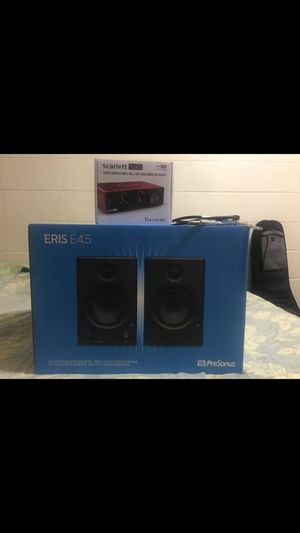 Presonus speaker and Scarlett interface for Sale in Honolulu, HI