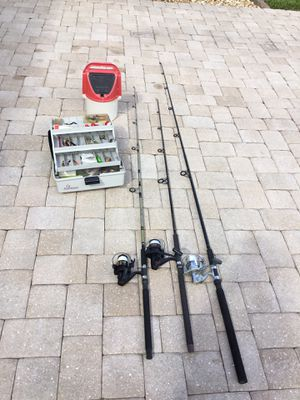 Fishing gear combo. C2-3 for Sale in PT CHARLOTTE, FL