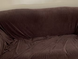 Used Bob's Furniture Loveseat and Recliner with Slip Covers for Sale in Middleton,  MA