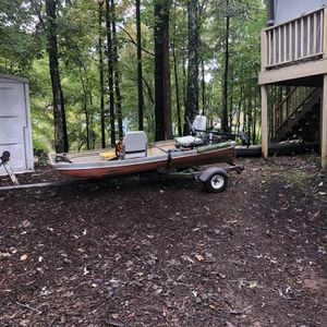 Old 10ft John Boat And Trailer for Sale in Hiram, GA