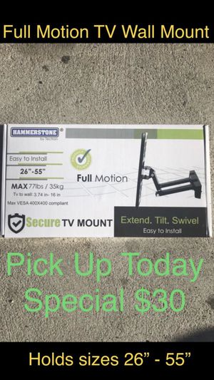 (TV Wall Mount) Full Motion Bracket -All Included- for Sale in Chula Vista, CA