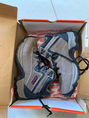 BRAND NEW in box. Coleman hiking shoes brown size 6 women lace up style ankle for Sale in Sun City, AZ