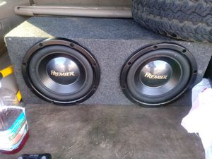 To Pioneer 12 subwoofers in a box 200 with amp Pioneer 900 watts if you want to know how they sound is still hooked up to my truck right now for Sale in Columbus, OH