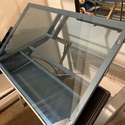 Glass Adjustable Drawing Table for Sale in Boring,  OR