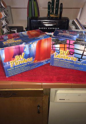 Nib. RV lanterns and RV flowers. 10$ each or 2/16$ for Sale in Fresno, CA