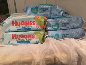Huggies and pampers baby wipes for Sale in The Bronx, NY