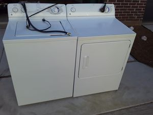 Perfect Working Ge Washer And Electric Dryer Can Test Delivery Available Today for Sale in Dallas, TX