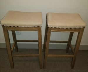2 barstools kitchen table wood $120 each!! for Sale in Bountiful, UT