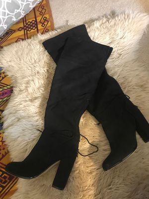 Knee high suede boots for Sale in Alexandria, VA