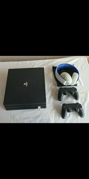 Playstation 4 Pro + 2 Controllers + Games! for Sale in Amlin, OH