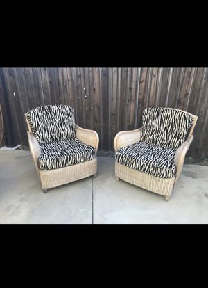 Zebra Patio Chairs for Sale in Fontana, CA
