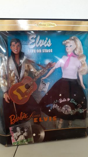 NEW IN BOX ELVIS LIVE ON STAGE BARBIE GIFT SET COLLECTOR EDITION MATTEL for Sale in Kissimmee, FL
