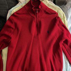 Red Ralph Lauren Polo Half Zip Size M for Sale in Houston,  TX