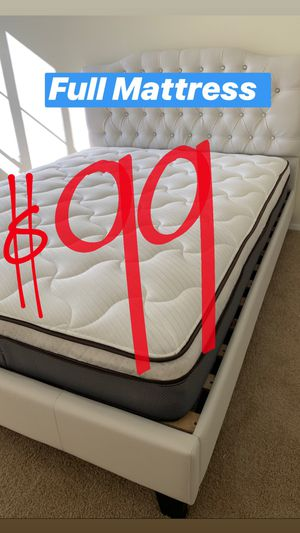 BRAND NEW PILLOW TOP MATTRESSES💯 COLCHONES NUEVOS PILLOW TOP 💯 Queen $120 ❌ $180 With Box Spring 💥💥 FULL SIZE $100 ❌ $150 With Box Spring💥 Twin $8 for Sale in Lynwood, CA