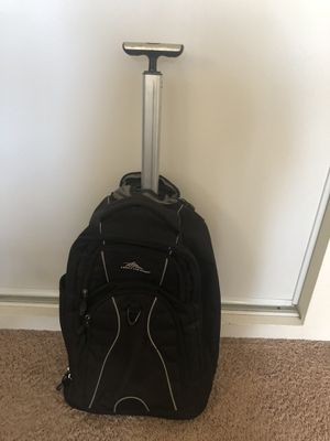 High sierra rolling backpack (black) so much storage for Sale in Burbank, CA