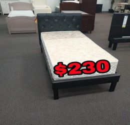 BRAND NEW BED FRAME TWIN COMES IN BOX 📢📦MATTRESS INCLUDED 📢😴✨😴SAME DAY DELIVER OR PICK UP 📢 for Sale in Carson,  CA