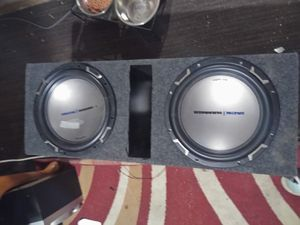 2 12in MTX jackhammer subwoofers in ported box excellent condition no low balls for Sale in Columbus, OH
