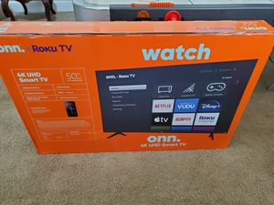 50 inch roku 4k ultra smart tv led With bonus》》roku built in for Sale in Plano, TX