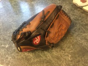 Rawlings-Premium Series D1150PT-Leather-Baseball-Glove-Mitt-Left-Handed-Thrower-11-5 like new condition with 3 hard baseballs or 3 softballs and pai for Sale in Plainfield, IL