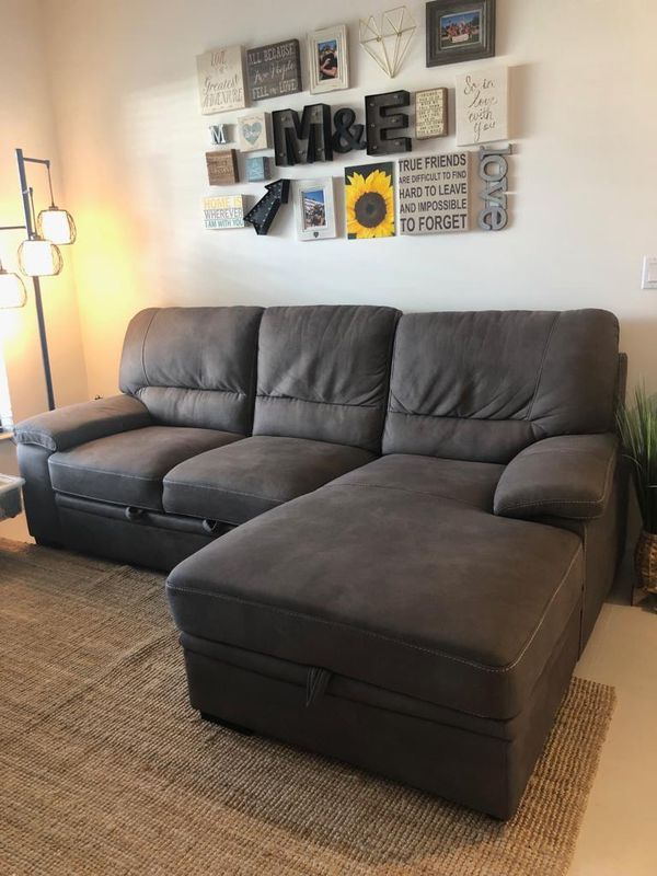 Pleasant Charcoal Sofa Bed Mint Condition For Sale In Miami Fl Camellatalisay Diy Chair Ideas Camellatalisaycom