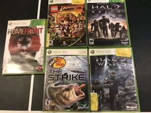 5 x Xbox 360 video games one price for Sale in Millersville, MD