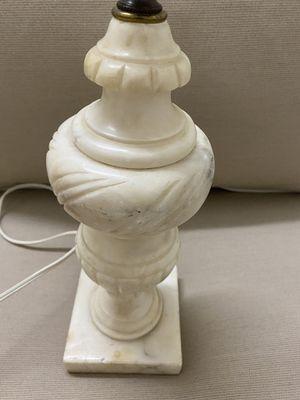 Vintage Carved Marble or Alabaster (?) Lamp for Sale in McLean, VA