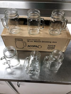 NEW DOZEN - 16OZ MASON DRINKING JARS for Sale in Jessup, MD