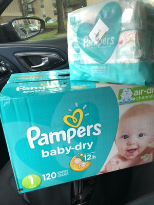 Baby pampers and wipes for Sale in St. Louis, MO