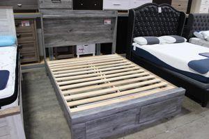 Baystorm Queen Storage Bed Frame, Grey, #B221 for Sale in Santa Fe Springs, CA