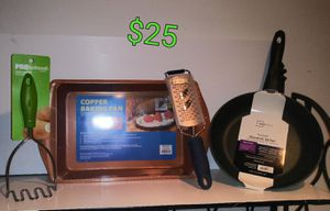 Copper pan / frying pan bundle for Sale in Fayetteville, AR