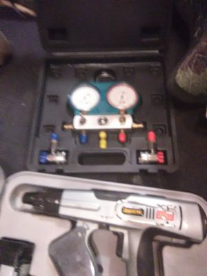It is a Senco screw gun and a set of freon gauges brand new in the box in the case for Sale in Jackson, TN