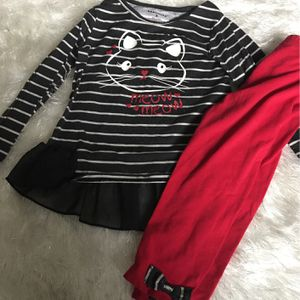 Red & Black Stripes Outfit Size 3t for Sale in Oklahoma City, OK