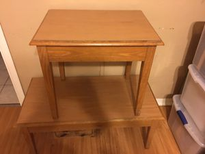 Solid wood coffee table and side table set for Sale in St. Petersburg, FL
