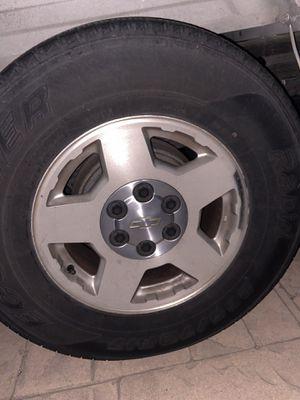 Chevy rims wheels tires 6 lugs for Sale in San Fernando, CA