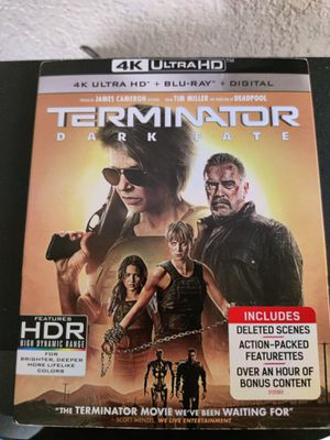 Brand New 4K UHD/Blu-Ray/Digital DL Movie: Terminator Dark Date for Sale in San Diego, CA