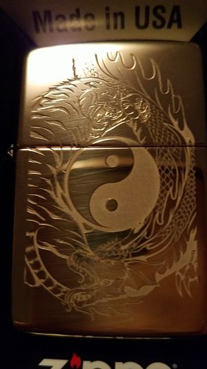 Zippo tiger dragon yingyang design brass 49024 for Sale in Los Angeles, CA