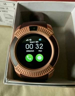 ♡global rosegold smartwatch with camera bluetooth or simcard♡ for Sale in Edinburg, TX