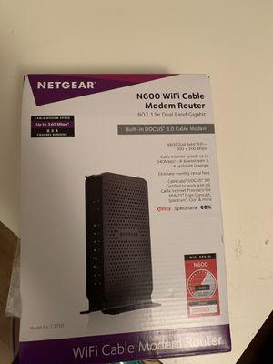 Netgear wifi modem router for Sale in Dallas, TX