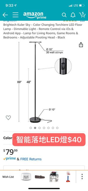 Led light floor lamp with remote for Sale in Pasadena, CA